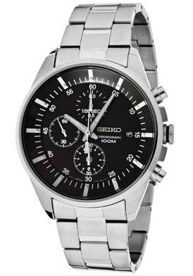 Seiko SNDC81 SNDC81P1 Mens Chronograph Watch WR100m