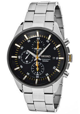 Seiko SNDC85 SNDC85P1 Mens Chronograph Watch WR100m