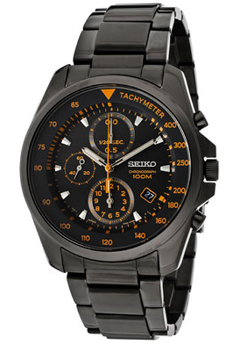 Seiko SNDD65 SNDD65P1 Mens Chronograph Watch Gun Metal