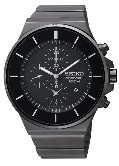 Seiko SNDD83 SNDD83P1 Mens Watch Sports Chronograph Gun Metal