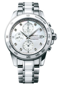 Seiko SNDX95 Sportura SNDX95P1 SNDX95 SNDX95P Ladies Chronograph Diamond Watch