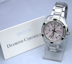 Seiko Velatura 53 real Diamond SNDZ37P1 Ladies Watch inc Diamond Certificate
