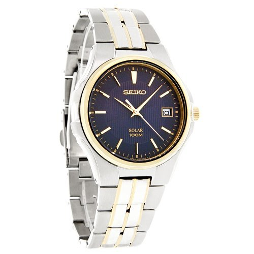 Seiko SNE124 SNE124P9 Two-Tone Solar Mens Watch