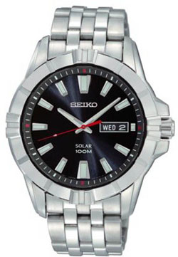 Seiko SNE161 SNE161P SNE161P1 Mens Watch Stainless Steel Solar