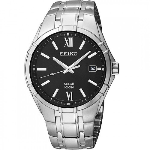 Seiko SNE215 SNE215P1 Mens Solar Watch WR100m