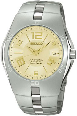 Seiko Arctura Kinetic Auto Relay Gents Chronograph SNG067 (gold) watch in gift box