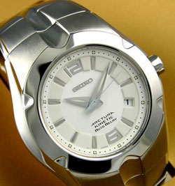 Seiko SNG077 Arctura Kinetic Auto Relay Gents watch (white) in gift box