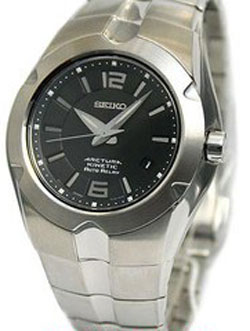 Seiko SNG079 Arctura Kinetic Auto Relay Gents watch (black) in gift box