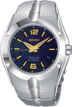 Seiko SNG081 Arctura Kinetic Auto Relay Gents watch (blue) in gift box