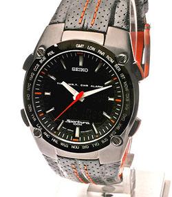 SEIKO Sportura SNJ011P2 Worldtimer Alarm Chronograph in gift box