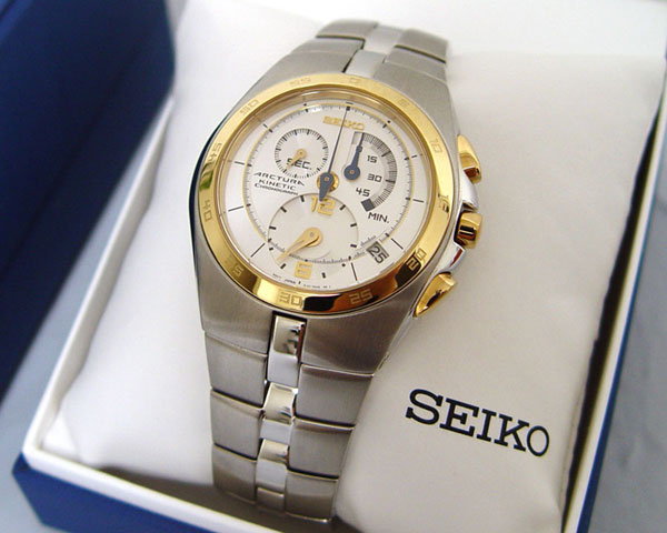 Seiko Arctura Kinetic Gents Chronograph SNL012 in gift box - wrist watch