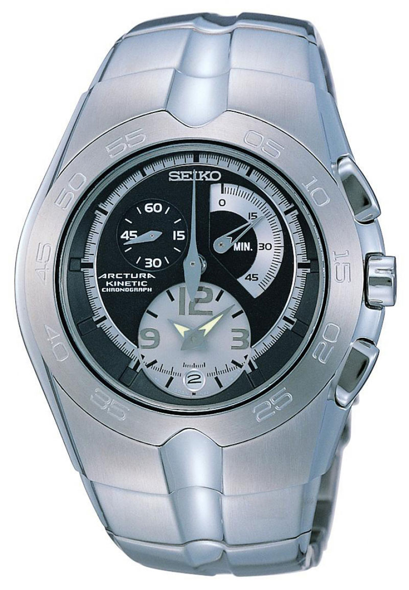 Seiko Arctura Kinetic Gents Chronograph SNL025 in gift box - wrist watch