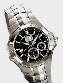 Seiko Coutura SNP007 SNP007P SNP007P1 Mens Kinetic Perpetual Calendar watch