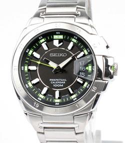 Seiko SNQ017P1 Stainless Steel Perpetual Calendar WR100m Mens Watch