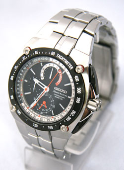 Seiko Sportura Chronograph Perpetual Calendar Alarm SPC047P1 Mens Watch