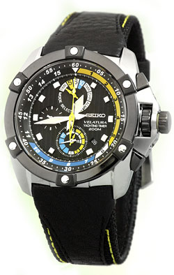 Seiko Velatura SPC049 SPC049P SPC049P1 Yacht Timer Mens Chronograph Watch