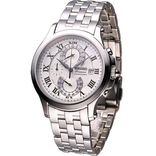 Seiko SPC065 SPC065P1 PREMIER Mens Chronograph Watch WR100m