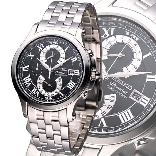 Seiko SPC067 SPC067P1 PREMIER Mens Chronograph Watch WR100m