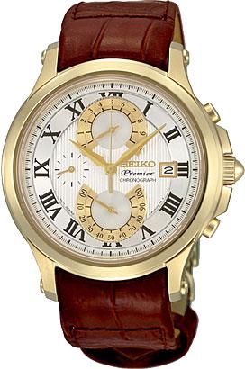 Seiko SPC070 SPC070P1 PREMIER Mens Chronograph Watch WR100m