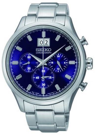 Seiko SPC081 SPC081P1 Mens Chronograph Watch Blue WR100m