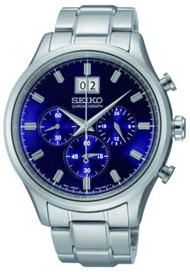 Seiko SPC081 SPC081P1 Mens Chronograph Watch Blue WR100m