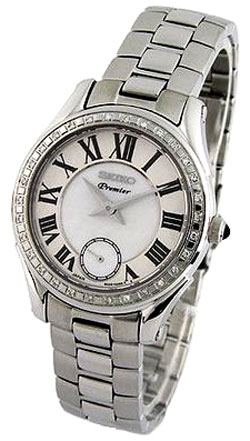 Seiko SRKZ93 SRKZ93P SRKZ93P1 Ladies Premier Watch Mother of Pearl Dial Watch with 30 real Diamonds