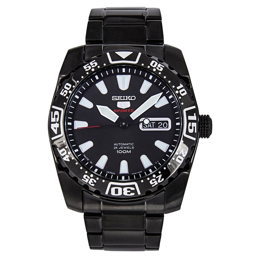 Seiko 5 Sports Automatic Hand Winding SRP169K1 SRP169 SRP169K Mens Watch