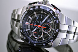 SEIKO Sportura SRQ007 SRQ007P1 LIMITED EDITION AUTOMATIC Chronograph Mens Watch