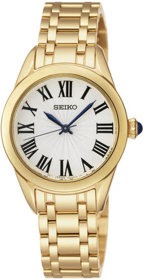Seiko SRZ384 SRZ384P1 Ladies Gold Dress Watch WR50m