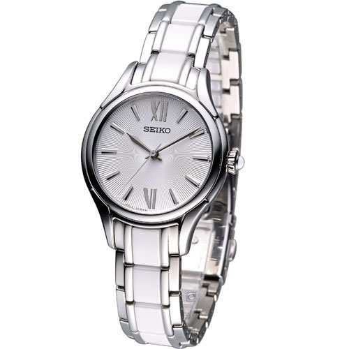 Seiko SRZ395 SRZ395P1 Ladies Ceramic Watch Cabochon Crown WR50m