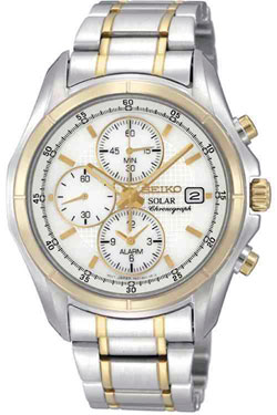 Seiko Solar SSC002 SSC002P1 Alarm Chronograph Mens Watch