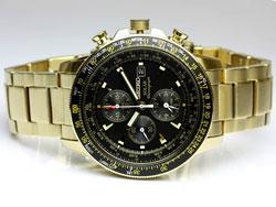 Seiko SSC008P2 SSC008 Solar Flightmaster Chronograph Pilot Watch WR100m