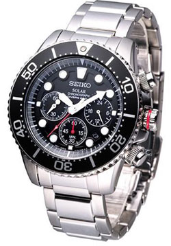 Seiko SSC015 Solar Chronograph Mens Diver Watch SSC015P1 SSC015 WR200m
