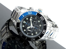 Seiko Solar Chronograph Mens Diver Watch SSC017P1 SSC017 WR200m