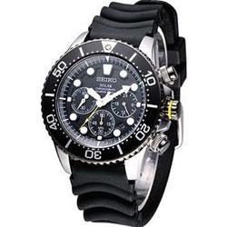 Seiko Solar Chronograph Mens Diver Watch SSC021P1 SSC021 WR200m