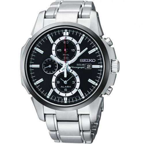 Seiko SSC087 SSC087P1 Mens Solar Alarm Chronograph Watch