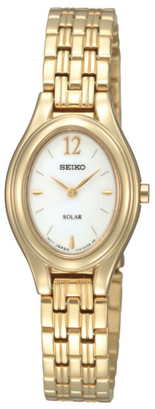 Seiko SUP008 SUP008P1 Ladies Solar elegant Gold Watch