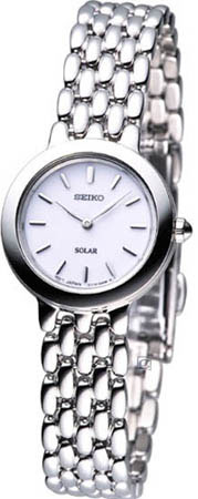Seiko SUP019 SUP019P1 Ladies Solar Watch Silver Tone