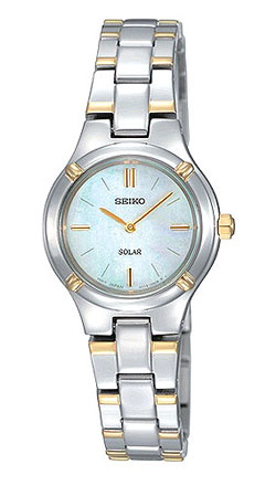 Seiko SUP066 Solar SUP066P1 SUP066 SUP066P Ladies Watch two tone