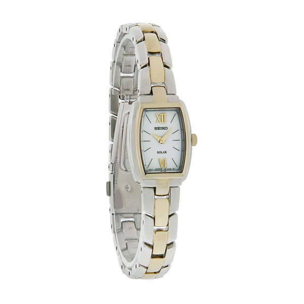 Seiko SUP070 SUP070P1 Solar Ladies Watch two-tone