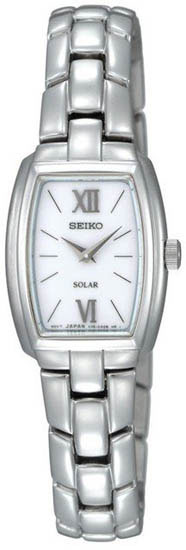 Seiko SUP075 SUP075P1 Ladies Solar Watch Silver Tone