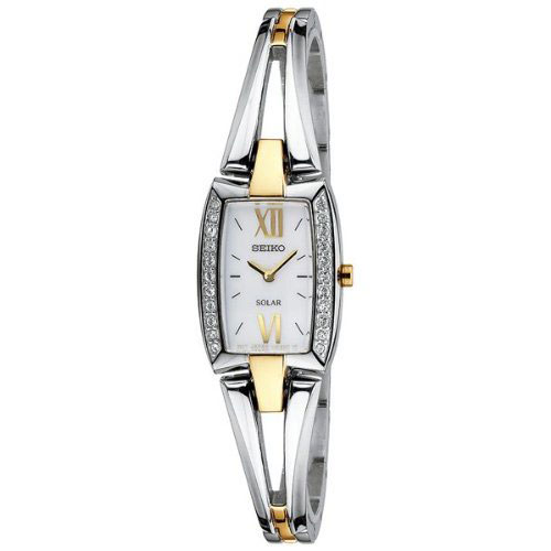 Seiko SUP084 SUP084P1 Ladies Solar Watch Tone Two-Tone Bracelet
