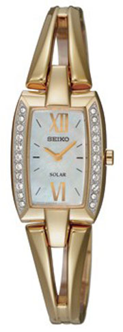 Seiko SUP086 SUP086P1 Ladies Solar Watch Gold Mother of Pearl