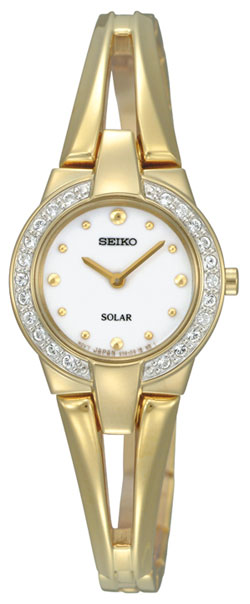 Seiko Ladies Solar Watch SUP088P1 SUP088 Gold