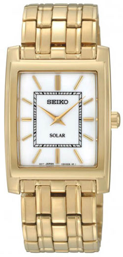 Seiko SUP892 SUP892P SUP892P1 Ladies Solar Watch Stainless Steel Gold