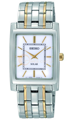 Seiko SUP893 SUP893P SUP893P1 Ladies Solar Watch Stainless Steel two tone
