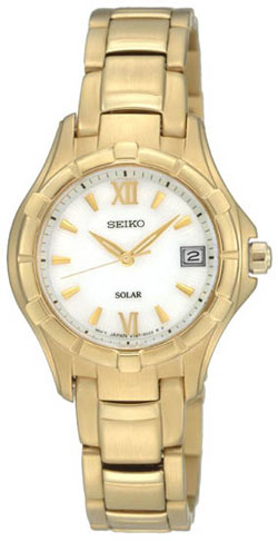 Seiko Solar SUT032P1 SUT032 SUT032P Ladies Watch Gold