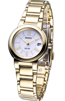Seiko SUT036 SUT036P SUT036P1 Ladies Solar Watch Stainless Steel gold