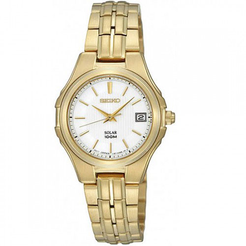 Seiko SUT046 SUT046P1 Solar Ladies Watch Gold Sunlight WR100m
