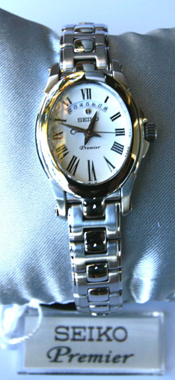 Seiko Premier SXD793P SXD793 Ladies stainless steel watch
